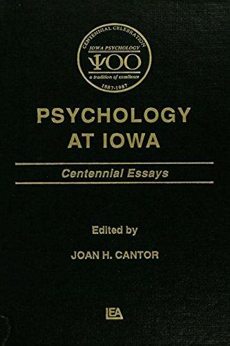 9780805807615: Psychology at Iowa: Centennial Essays