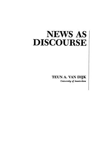 9780805808285: News As Discourse (Routledge Communication Series)