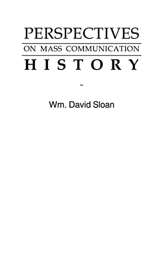 9780805808353: Perspectives on Mass Communication History (Routledge Communication Series)