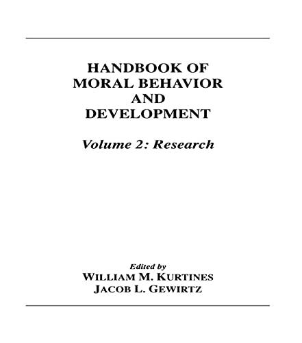 9780805808810: Handbook of Moral Behavior and Development: Research (Volume 2)
