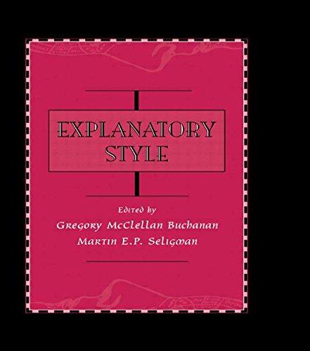 9780805809244: Explanatory Style