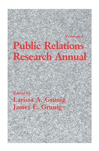 Public Relations Research Annual: Volume 3