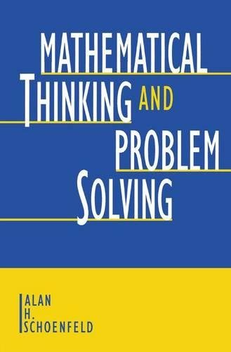 9780805809893: Mathematical Thinking and Problem Solving (Studies in Mathematical Thinking and Learning Series)