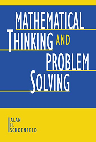 9780805809909: Mathematical Thinking and Problem Solving (Studies in Mathematical Thinking and Learning Series)