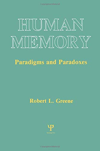 9780805809978: Human Memory: Paradigms and Paradoxes (Cognitive Science)