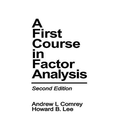 9780805810622: A First Course in Factor Analysis 2nd Ed