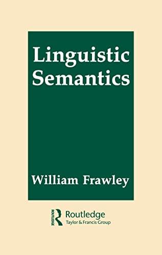 9780805810745: Linguistic Semantics