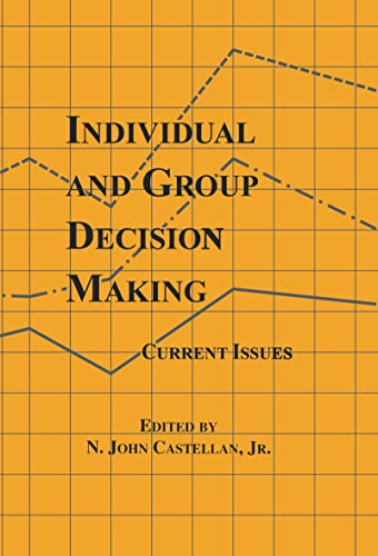 9780805810905: Individual and Group Decision Making: Current Issues