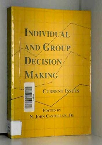 9780805810912: Individual and Group Decision Making: Current Issues