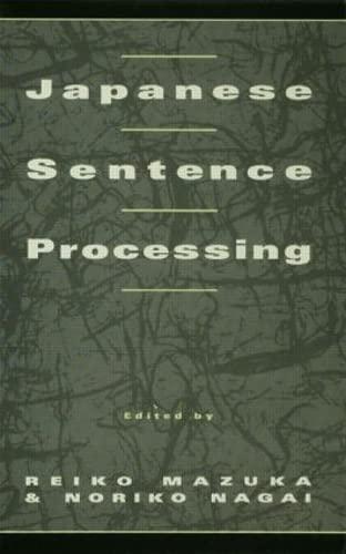 9780805811254: Japanese Sentence Processing