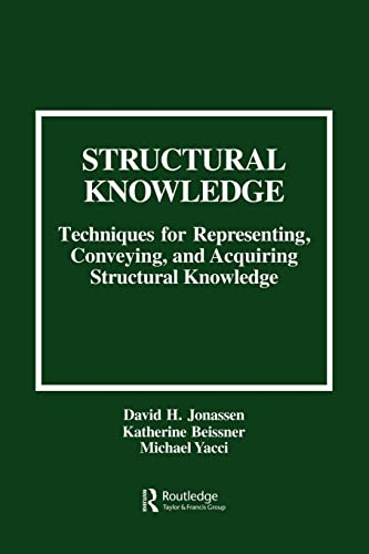 9780805813609: Structural Knowledge: Techniques for Representing, Conveying, and Acquiring Structural Knowledge (Research, Special Publication; 30)