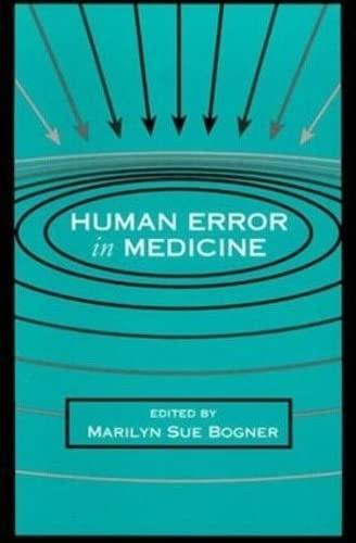9780805813852: Human Error in Medicine (Human Error and Safety)