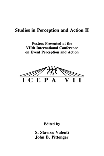 9780805814057: Studies in Perception and Action II: Posters Presented at the VIIth international Conference on Event Perception and Action: Tenth International Conference on Perception and Action v. 2