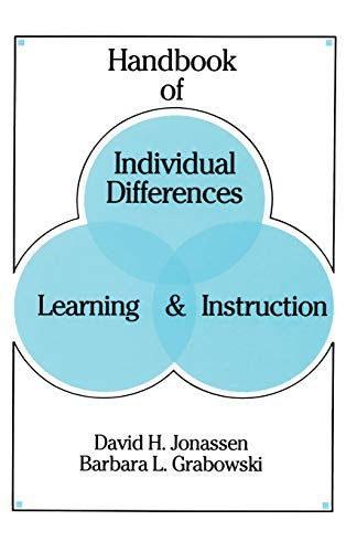 9780805814125: Handbook of Individual Differences, Learning, and Instruction