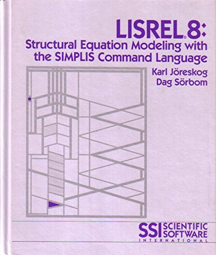 9780805814415: Lisrel 8: Structural Equation Modeling With the Simplis Command Language