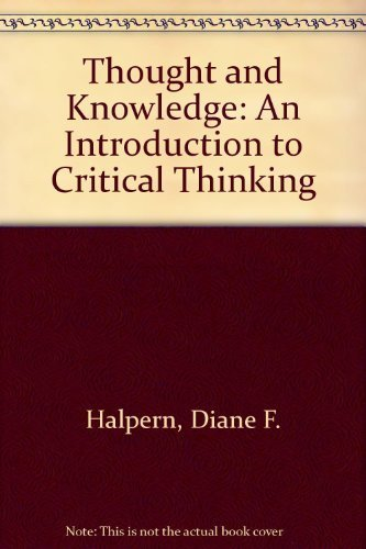 9780805814934: Thought and Knowledge: An Introduction to Critical Thinking