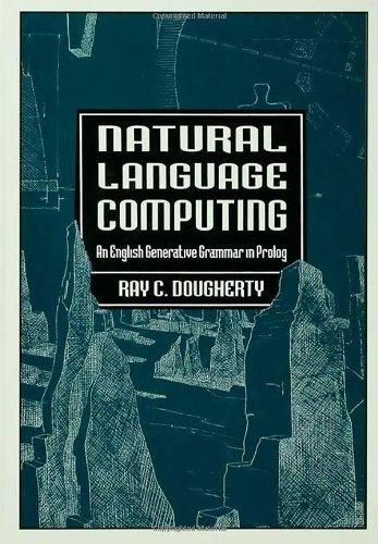 9780805815252: Natural Language Computing: An English Generative Grammar in Prolog