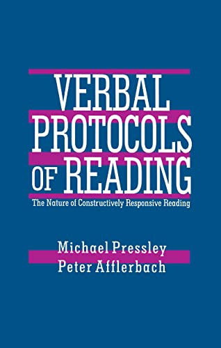 9780805815375: Verbal Protocols of Reading: The Nature of Constructively Responsive Reading