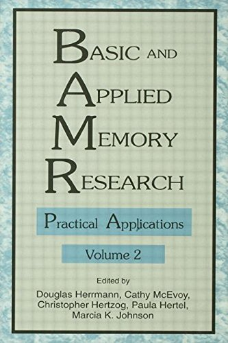 9780805815405: 1-2: Basic and Applied Memory Research: Volume 1: Theory in Context; Volume 2: Practical Applications