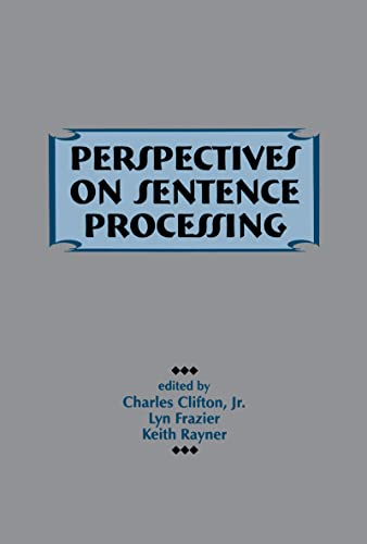 9780805815825: Perspectives on Sentence Processing