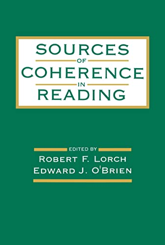 9780805816372: Sources of Coherence in Reading
