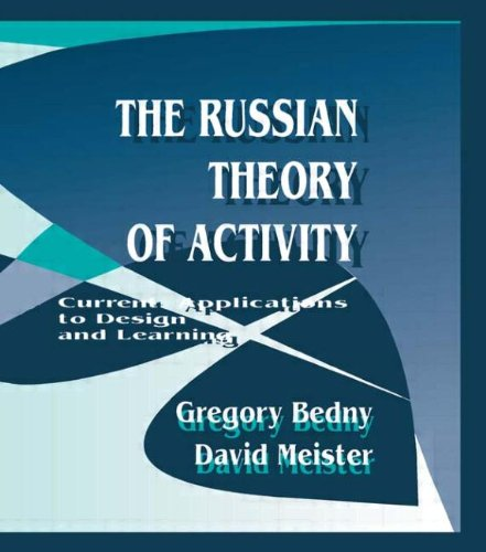 9780805817713: The Russian Theory of Activity: Current Applications To Design and Learning (Applied Psychology Series)