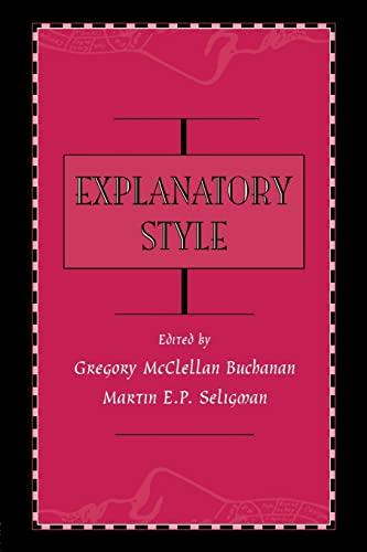 9780805817898: Explanatory Style