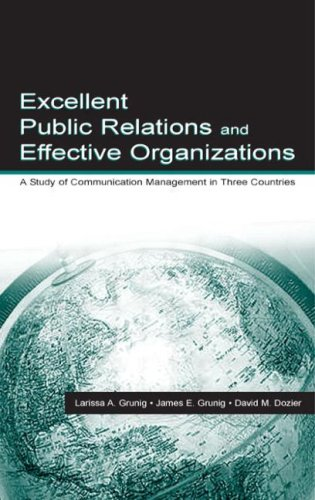 9780805818178: Excellent Public Relations and Effective Organizations: A Study of Communication Management in Three Countries (Routledge Communication Series)