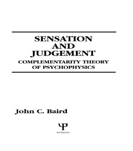 9780805818307: Sensation and Judgment: Complementarity Theory of Psychophysics (Scientific Psychology Series)