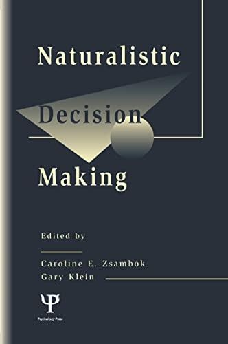 9780805818734: Naturalistic Decision Making