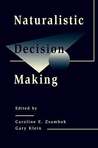 9780805818741: Naturalistic Decision Making