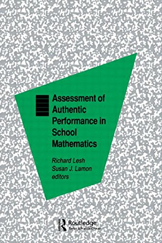 9780805818772: Assessment of Authentic Performance in School Mathematics