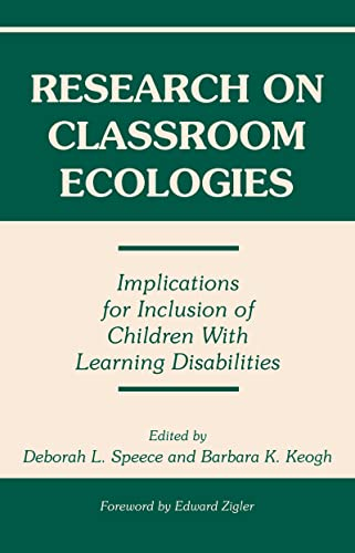 9780805818963: Research on Classroom Ecologies: Implications for Inclusion of Children With Learning Disabilities