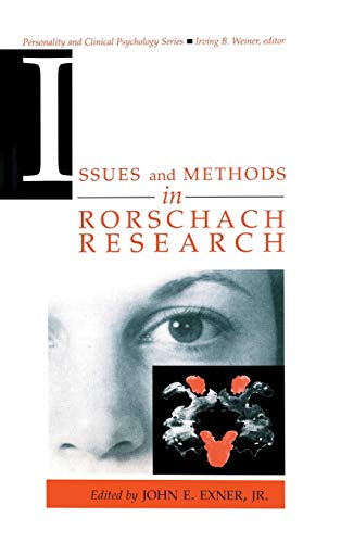 9780805819021: Issues and Methods in Rorschach Research (Lea Series in Personality and Clinical Psychology)