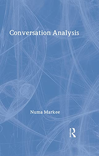 9780805819991: Conversation Analysis (Second Language Acquisition Research Series)