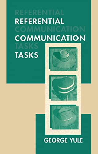 9780805820034: Referential Communication Tasks (Second Language Acquisition Research Series)