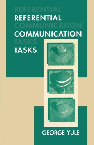 9780805820041: Referential Communication Tasks (Second Language Acquisition Research Series)
