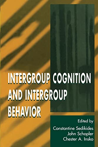 9780805820560: Intergroup Cognition and Intergroup Behavior (Applied Social Research Series)