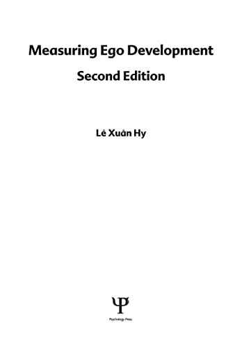 9780805820607: Measuring Ego Development (Lea Series in Personality and Clinical Psychology)