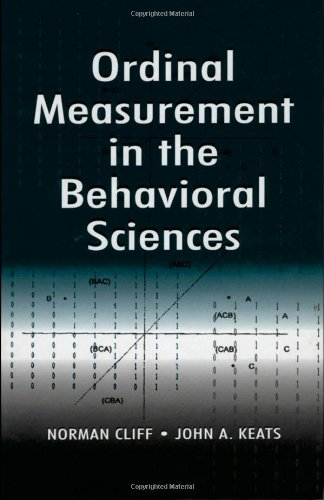 9780805820935: Ordinal Measurement in the Behavioral Sciences