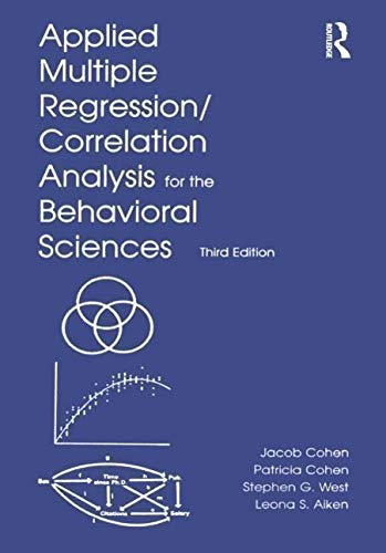 9780805822236: Applied Multiple Regression/Correlation Analysis for the Behavioral Sciences, 3rd Edition