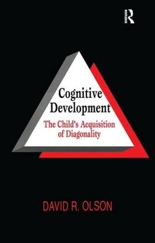 9780805823028: Cognitive Development: The Child's Acquisition of Diagonality