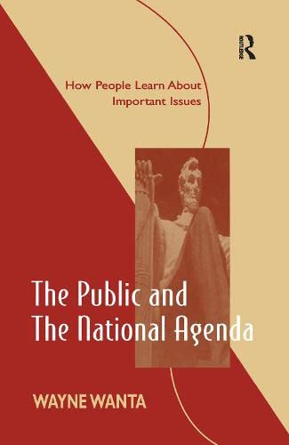9780805824612: The Public and the National Agenda: How People Learn About Important Issues (Routledge Communication Series)