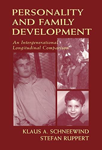 9780805825121: Personality and Family Development: An Intergenerational Longitudinal Comparison