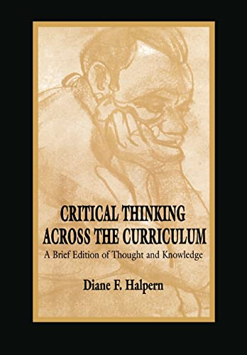 9780805827316: Critical Thinking Across the Curriculum: A Brief Edition of Thought & Knowledge: A Brief Edition of Thought and Knowledge
