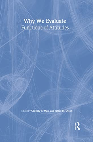 9780805827705: Why We Evaluate: Functions of Attitudes