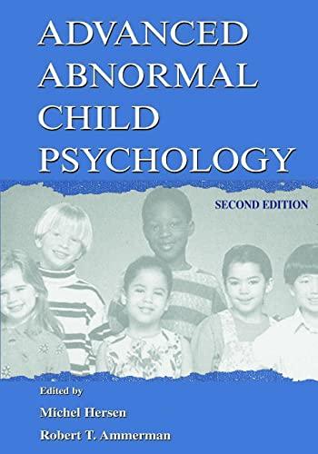 9780805828672: Advanced Abnormal Child Psychology