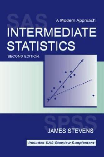 9780805829617: Intermediate Statistics: A Modern Approach, 2nd Edition