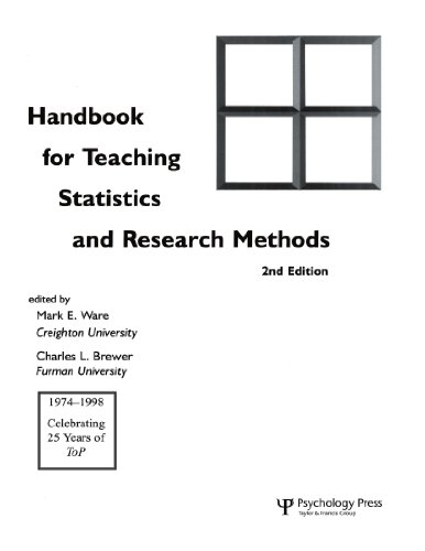 9780805830491: Handbook for Teaching Statistics and Research Methods 2nd Edition