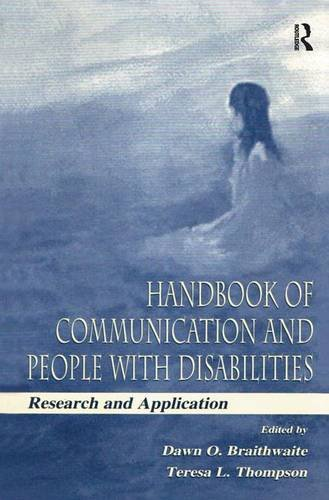 9780805830590: Handbook of Communication and People with Disabilities: Research and Application (Lea's Communication Series) (Routledge Communication Series)